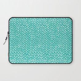 Hand Knit Aqua Laptop Sleeve