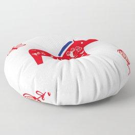 Dala horse white Floor Pillow