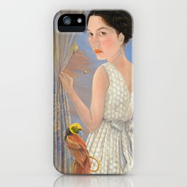 Lady and a Bird of Paradise iPhone Case