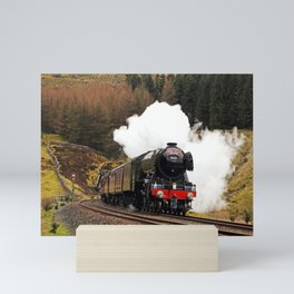 60103 Flying Scotsman at Blea Moor Mini Art Print