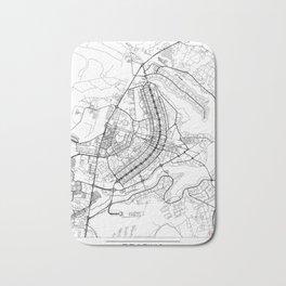 Brasilia Map White Bath Mat