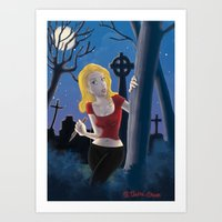 buffy Art Prints featuring Buffy by TeeNa Stone