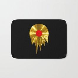 Melting vinyl GOLD / 3D render of gold vinyl record melting Bath Mat