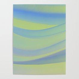 colorful wavy abstract mixer brush Poster