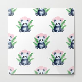 Baby Animals Neck Gaiter Panda Bear Cub Neck Gator Metal Print