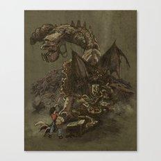 Junkyard Dragon  Canvas Print