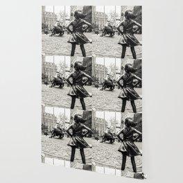 Fearless Girl & Bull - NYC Wallpaper