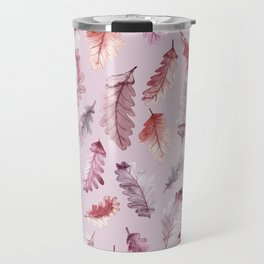 The colors of autumn in pink Travel Mug