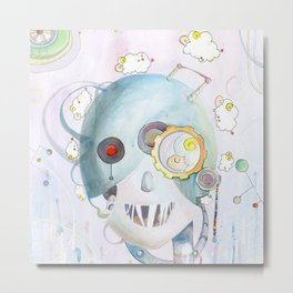 Androids Dream of Electric Sheep Metal Print