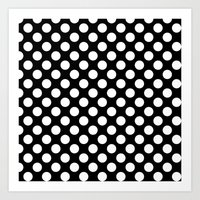 polka dots Art Prints featuring Polka Dots by Kings in Plaid