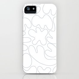 Blob Collage - Line iPhone Case