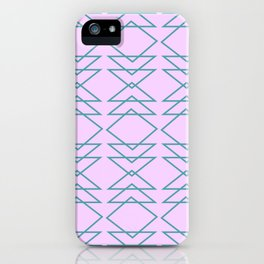Fun Geometric Line and Shape Pattern in Lavender iPhone Case