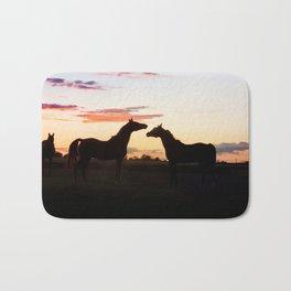 Arabian horse sunset Bath Mat