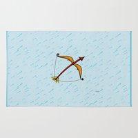 sagittarius Area & Throw Rugs featuring Sagittarius by Giuseppe Lentini
