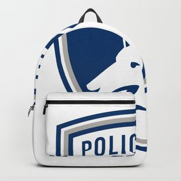 Police Dog Shield Mascot Backpack
