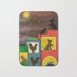 """""""Moonlight & Silhouettes (i)"""" by ICA PAVON Bath Mat"""