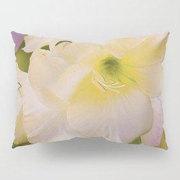 Sword Lily Green Bokeh Pillow Sham