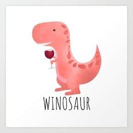 Winosaur Art Print