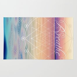Breathe - Reminder Affirmation Mindful Quote Rug