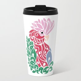 Galah cockatoo tribal tattoo pink rose-breasted aussie parrot Travel Mug