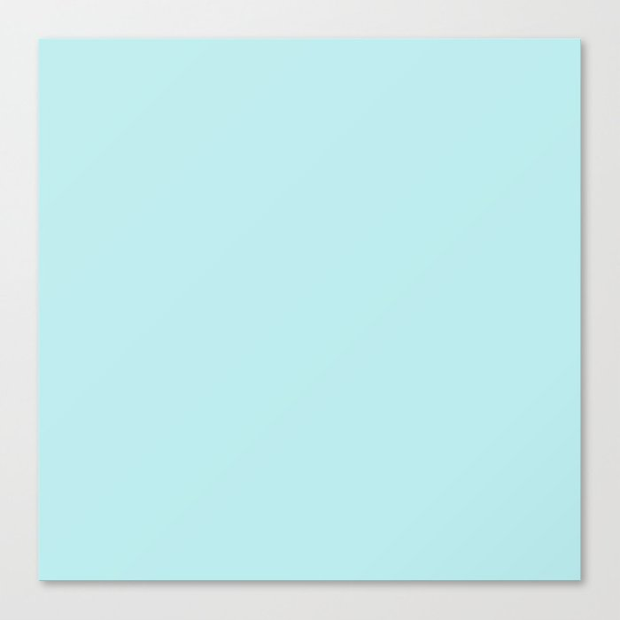 Pastel Turquoise Blue Solid Color Block Spring Summer Leinwanddruck