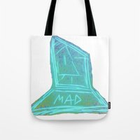 mad Tote Bags featuring Mad  by Rachel