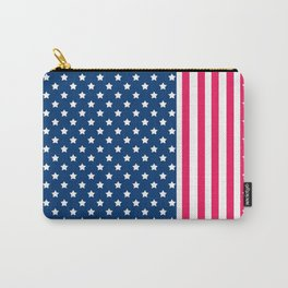 Abstract Patriotic pattern . Carry-All Pouch