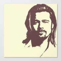 brad pitt Canvas Prints featuring Brad Pitt :) by Dora Birgis