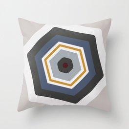 hexagon purple Throw Pillow
