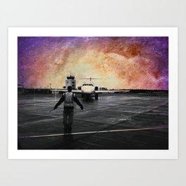 Purple skies at night, astronauts delight Art Print