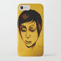 caitlin hackett iPhone & iPod Cases featuring Caitlin by Genevieve Koberstein