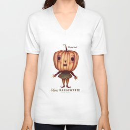 Pumpkin Witch Unisex V-Neck