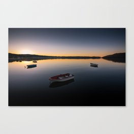 Sunrise over Knysna Lagoon in Western Cape, South Africa Canvas Print