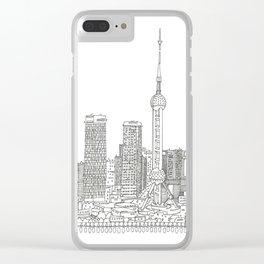 METROPOLIS - SHANGHAI #02 Clear iPhone Case