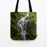 waterfall Tote Bags featuring Waterfall by Pati Designs