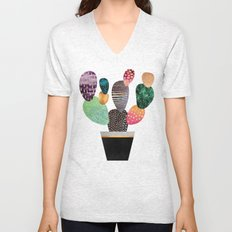Pretty Cactus Unisex V-Neck