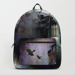 inside the haunted house Backpack