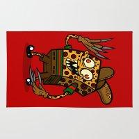 freddy krueger Area & Throw Rugs featuring Sponge Krueger by Artistic Dyslexia