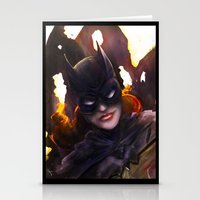 batgirl Stationery Cards featuring Batgirl by Nicole M Ales