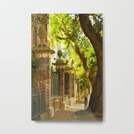 Legare Street Walk Metal Print