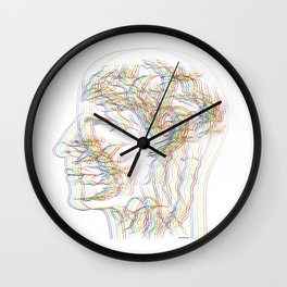 The digital drawing of human nervous system Wall Clock