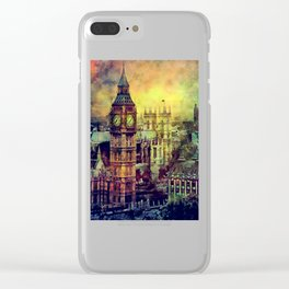 London Big Ben watercolor Clear iPhone Case