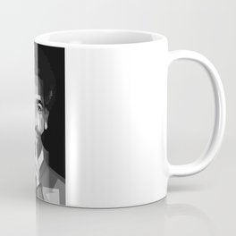 Mohamed Salah on Black and White Color Coffee Mug