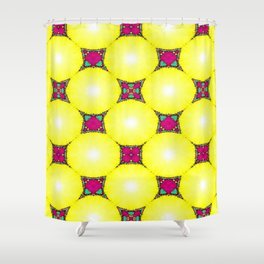 New Dynamics Pattern 9 Shower Curtain