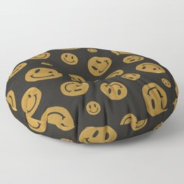 90's Smiley Face Pattern Floor Pillow