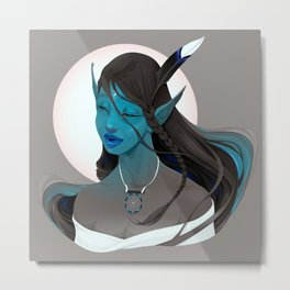 - Portrait of a fairy called Maya - Metal Print