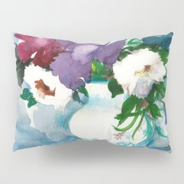 Flowers. Watercolor Bouquet Pillow Sham