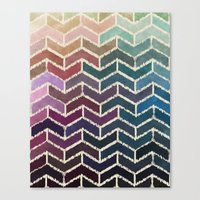 ikat Canvas Prints featuring Chevron iKat by Steven Womack