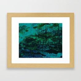 Flora Celeste Kyanite Aqua Aura Tree Texture  Framed Art Print