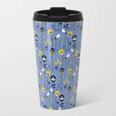 retro flower field Travel Mug